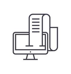 Online blog journalist linear icon sign symbol vector