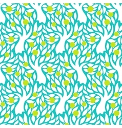 Pattern with apple trees vector