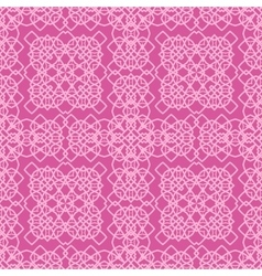 Pink Ornamental Seamless Line Pattern vector image
