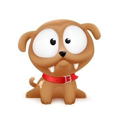 Puppy character sitting vector