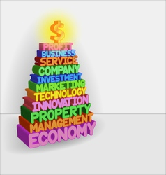 Pyramid of business vector image