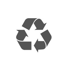 recycle arrows circle icon eco waste bin vector image