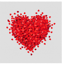 red heart isolated transparent background vector image