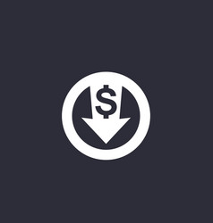 reduce costs icon vector image