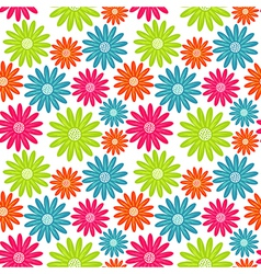 Seamless floral pattern Flowers texture Daisy vector