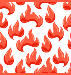seamless pattern with fire vector image