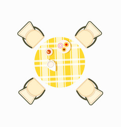 served dining table icon vector image