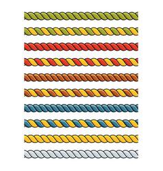 Set of bright multicolored decorative lace silk vector