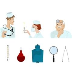 Set of medical images vector