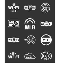 set twelve wifi icons vector image