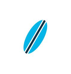 surfboard icon colored symbol premium quality vector image