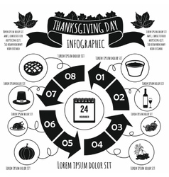 Thanksgiving Day infographic elements vector image