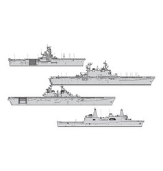 us landing ships vector image