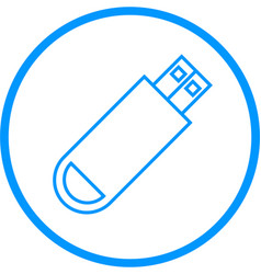 Usb drive line icon vector
