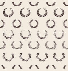 vintage wreath pattern greek laurel awards vector image
