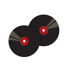vinyl record black graphic vector image