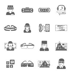 Virtual Glasses Icon Set vector