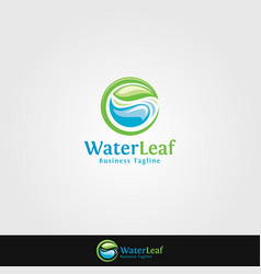 water leaf - nature logo template vector image