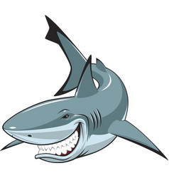 white cheerful shark vector image