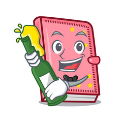 With beer diary mascot cartoon style vector
