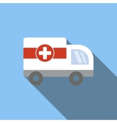 Ambulance flat icon vector image vector image