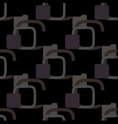 geometric pattern on a black background vector image vector image