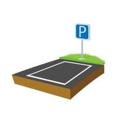 Parking lot icon cartoon style vector image