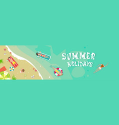 summer beach vacation seaside sand tropical vector image vector image