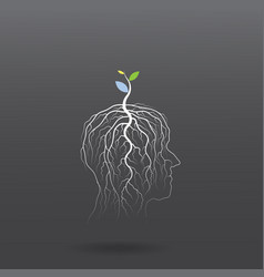 Think green concept vector image