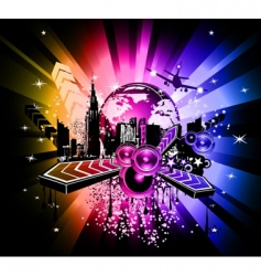 urban scene poster vector image vector image