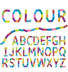 Colour alphabet vector image vector image