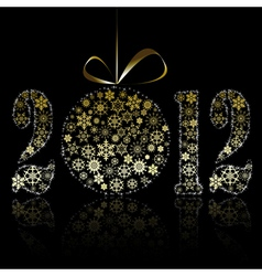 new year 2012 symbol vector image vector image