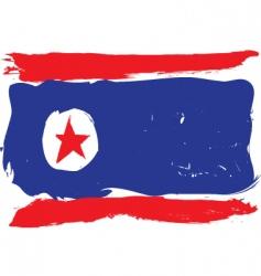 North Korea grunge flag vector image vector image
