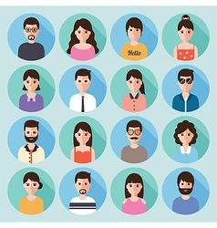 people flat design icon set vector image