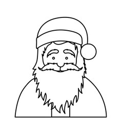 silhouette half body cartoon santa claus portrait vector image vector image