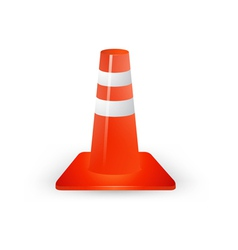 Traffic cones on a white background vector image vector image