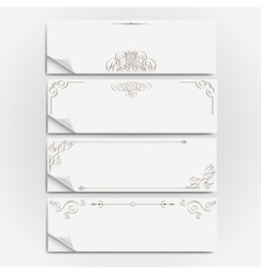 White paper banners vector image vector image