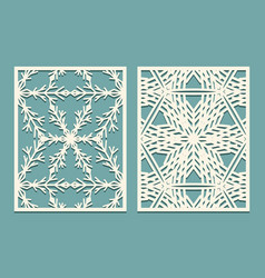die and laser cut decorative panels with vector image