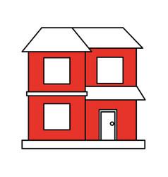facade house of plants vector image vector image