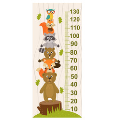 growth measure with forest animal vector image