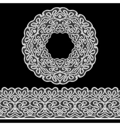 Lace Border Set vector image