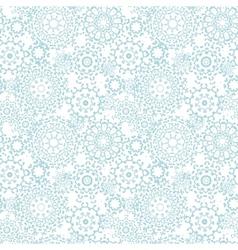 Silver gray abstract mandalas seamless pattern vector