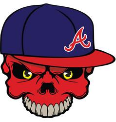 skull baseball cap vector image vector image