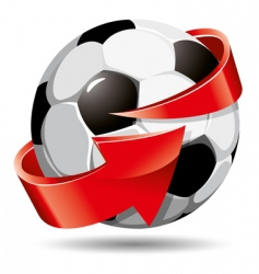 soccer ball and arrow vector image vector image