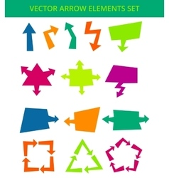 Arrow elements vector image