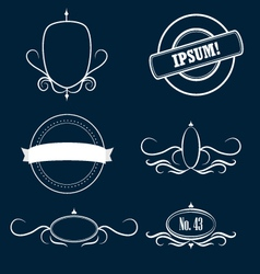 Collection of decorative frames and emblems vector image vector image