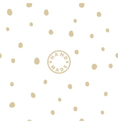Seamless pattern with handmade logo vector image vector image