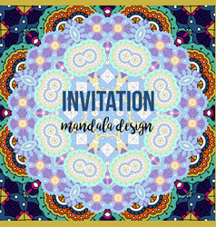 Universal invitation mandala card vector