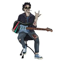 Zombie Rocker vector image vector image