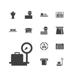 13 terminal icons vector